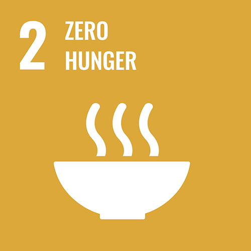 UN Sustainable Development Goals icon for zero hunger