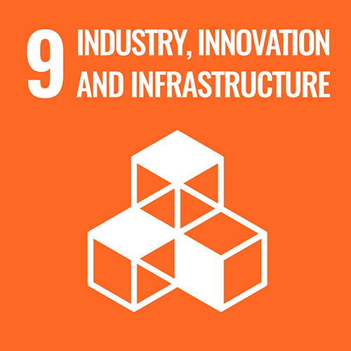 UN Sustainable Development Goals icon for Industry, Innovation And Infrastructure